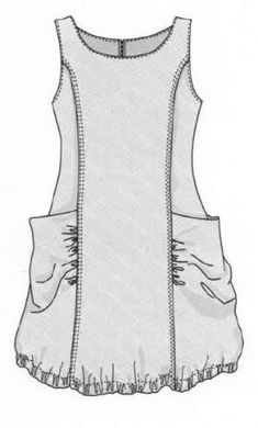 Sewing women tunic Ideas - Sewing - dresses for work Sewing Patterns Free, Free Sewing, Sewing Tutorials, Clothing Patterns, Dress Patterns, Free Pattern, Tunic Pattern, Sewing Diy, Sewing Aprons