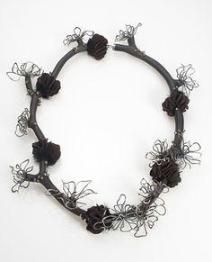 Tina Rath,  Wanderlux Souvenir #2 2010 African blackwood, sterling silver, pyrite, mink