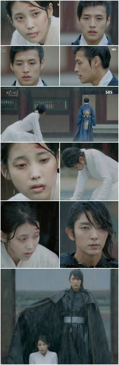 Another epic scene in Moon Lovers Scarlet Heart: Ryeo. 4th Prince Wang Wook turning his back on Hae Soo was heartbreaking. I really liked the two them together. But then had he not done that we would've never seen her real knight shine in her moment of darkness. Hae Soo and Wang So :*  Image Courtesy: Kissasian.com Scarlet Heart Ryeo Review
