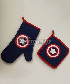 Super Hero Captain America Full Cotton Mustache Oven Mitt (oven Glove) and Pot Holder Cooking Tools Set #Everyone Can Cosplay! Cosplay costumes #Anime Cosplay Accessories #Cosplay Wigs #Anime Cosplay masks #Anime Cosplay makeup #Sexy costumes #Cosplay Costumes for Sale #Cosplay Costume Stores #Naruto Cosplay Costume #Final Fantasy Cosplay #buy cosplay #video game costumes #naruto costumes #halloween costumes #bleach costumes #anime