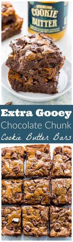 Extra GOOEY Chocolate Chunk Cookie Butter Bars!
