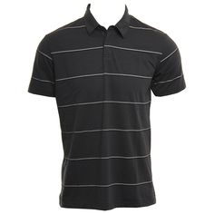 RVCA Mens Knit Sure Thing Stripe Carbon