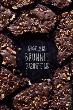 Pecan Brownie Brittle Recipe on Yummly Cookie Desserts, Chocolate Desserts, Just Desserts, Delicious Desserts, Yummy Food, Chocolate Lasagna, Chocolate Lovers, Candy Recipes, Sweet Recipes