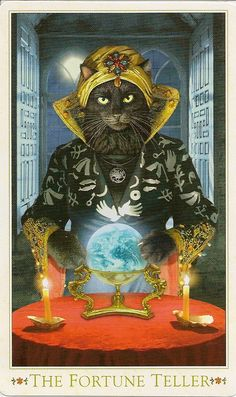 Baroque Bohemian Cats Tarot. The Fortune Teller.
