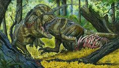 Skorpiovenator bustingorryi. Art by Maurilio Oliveira. Skorpiovenator is a genus of abelisaurid theropod dinosaur from the late Cretaceous period of Argentina. It is one of the most complete and informative abelisaurids yet known, described from a nearly complete and articulated skeleton.