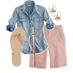 A fashion look from May 2011 featuring J.Crew shorts, J.Crew sandals and J.Crew earrings. Browse and shop related looks.
