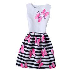 5-20Yrs Teens christmas Girl Dress Summer Casual Princess dress for girl Wedding Party Girls Print Flower Nov 11 #>=#>=#>=#>=#> Click on the pin to check out discount price, color, size, shipping, etc. Save and like it!