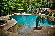 Oakdale Farms Estate - mediterranean - pool - oklahoma city - CAVINESS LANDSCAPE DESIGN, INC. - poolandspa.com