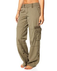 SURFSTITCH - WOMENS - PANTS - CARGO - RIP CURL WAYFARER PANT - DUSTY OLIVE