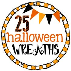 25 MUST-SEE Halloween Wreaths! Love all the orange and black!! #halloween