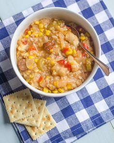 Crock Pot Southern-Style Sausage, Shrimp, and Corn Stew