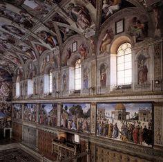 Image detail for -14049-interior-of-the-sistine-chapel-michelangelo-buonarroti