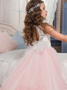 Ball Gown / Princess Maxi Flower Girl Dress - Polyester Sleeveless Jewel Neck with Beading / Appliques / Lace by LAN TING Express 2019 - US $109.99 Flower Girls, Cheap Flower Girl Dresses, Princess Prom Dresses, Princess Ball Gowns, Ball Gown Dresses, Dress Up, Elegant Ball Gowns, Girls Dresses Online, Beaded Lace