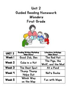McGraw-Hill Reading Wonders First Grade Homework (Unit 1
