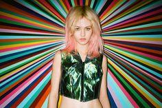 Charlotte Free Sports Vibrant Summer Looks for Elle Girl Japan by Jason Lee Parry
