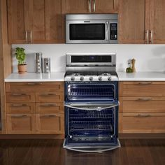 Double Oven Dual Fuel Range With Self Cleaning Convection Oven In Stainless    The Home Depot