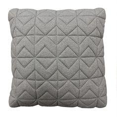 Casper Quilted Light Grey Box Cushion