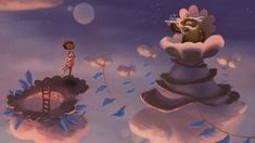 We visited Double Fine's studio in San Francisco, CA to play Broken Age and talk with point-and-click legend Tim Schafer and producer Greg Rice. Game Google, Google Play, Ritual Sacrifice, Game Informer, Monkey Island, Space Boy, Video Game Industry, Animation Background