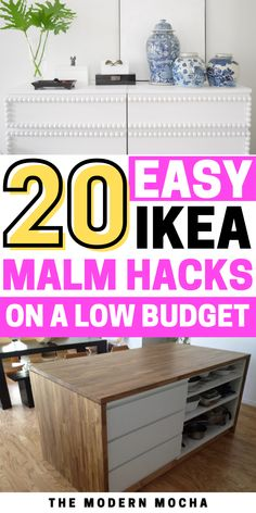 Looking for a way to hack your IKEA Malm? Check out these IKEA MALM hacks including the nightstands, classic dresser, bed, desk and more. Add the MALM overlays and stickers on top for a beautiful finish! Save this for more IKEA hacks, storage ideas, and DIY inspiration for your home furniture and storage solutions. #ikeahacks #ikea #malmhacks #malm #ikeamalm Ikea Dresser Hack, Dresser Bed, Nightstands, Diy Furniture Projects, Home Furniture, Storage Solutions, Storage Ideas, Classic Dressers, Ikea Hacks