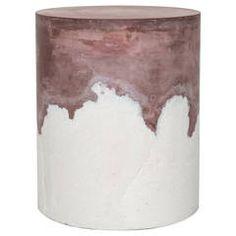 Burgundy Cement and Sand Drum by Fernando Mastrangelo