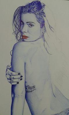 Arte na canetas esferográfica #BicBrasil @lierbethsousa_art #boligrafo #ballpoint #caneta #art #dibujo #drawings #desenhos #anitta