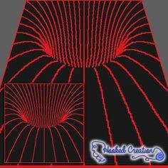 Tunnel Vision SC Throw Blanket Crochet Pattern - PDF Download