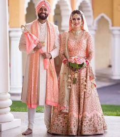 Pinterest ● @bhavi91 Wedding Lehnga, Indian Bridal Lehenga, Indian Bridal Wear, Sikh Bride, Punjabi Bride, Punjabi Wedding, Bridal Outfits, Bridal Dresses, Indian Dresses
