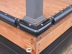 Corner and horizontal bumpers for boat docks