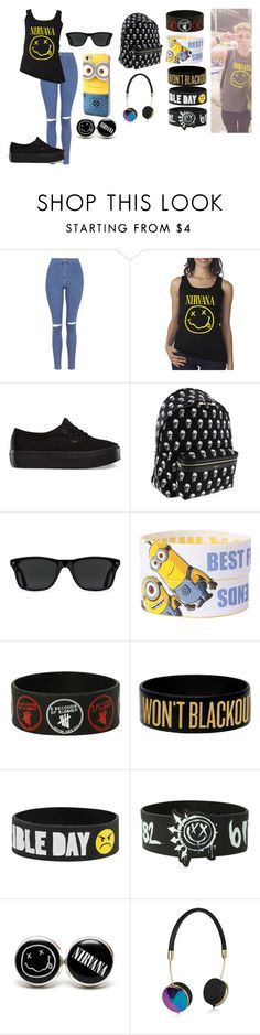 """going to the mall with luke hemmings"" by annie-hall-barton ❤ liked on Polyvore featuring Topshop, Vans, Yves Saint Laurent, GlassesUSA, Frends, nirvana and lukehemmings"