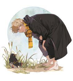 Imagen de newt scamander, fantastic beasts, and niffler Harry Potter Art, Harry Potter Anime, Character Design, Beast, Fantastic Beasts, Anime, Fan Art, Scamander