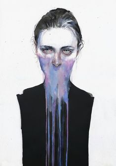 Silvia Pelissero, widely known as Agnes Cecile, is an artist from Rome, Italy, who creates sensual watercolor portraits of woman. Art And Illustration, Portrait Illustration, Art Inspo, Kunst Inspo, Painting Inspiration, Art Watercolor, Watercolor Portraits, Abstract Portrait, Abstract Art