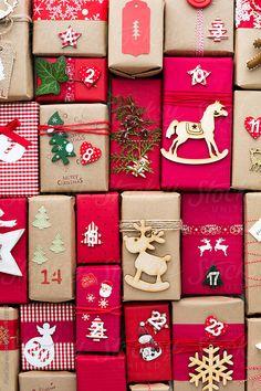 Christmas advent calendar by Pixel Stories - Gift, Christmas - Stocksy United Homemade Advent Calendars, Diy Advent Calendar, Creative Christmas Gifts, Christmas Gift Wrapping, Christmas Countdown, Christmas Time, Xmas, Creative Gift Packaging, Calendrier Diy