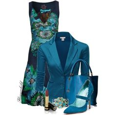 A fashion look from November 2014 featuring Desigual dresses, Doublju blazers and Kate Spade. Browse and shop related looks.