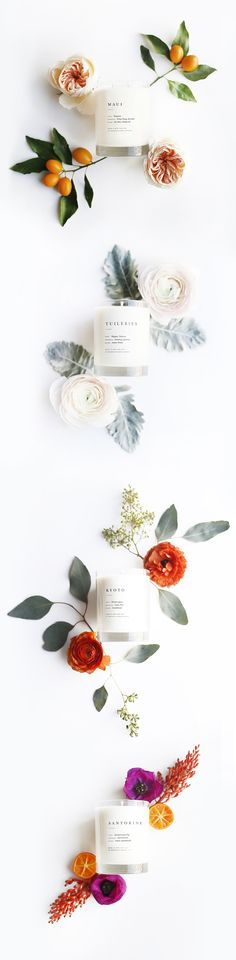 Prop Styling - Candles and Flowers // Brooklyn Candle Studio Escapist Collection: Photostyling, Styling