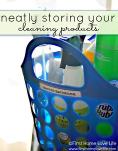 Simple tips to #organize cleaning products