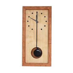 Wood Clock - Box clock handcrafted in North Carolina by second generation furniture maker, Desmond Suarez. Made of certified sustainable Appalachian cherry and hard maple woods. American-made quartz movement with pendulum. Handmade Design, Handmade Wooden, Affordable Furniture, Modern Furniture, Furniture Design, Furniture Nyc, Furniture Market, Steel Furniture, Cheap Furniture