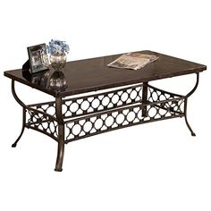 Hillsdale 5752CTR Brescello Rectangle Coffee Table CharcoalBlue Stone -- See this great product. (This is an affiliate link) #FurnitureCoffeeTables
