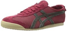 Onitsuka Tiger Mexico 66 Fashion Sneaker,Wine/Dark Grey,5.5 M US/7 M US Women's. Size: 7 B(M) US. Rubber sole. Sleek, low-cut sneaker known for its popularity during the '68 Mexico Olympic Games. Rubber. Logo heel tab. Pinking-edged overlays.