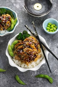 Slow Cooker Teriyaki Chicken coated in a homemade sweet and savory Teriyaki sauce that is even better than your local Japanese takeout restaurant! Best of all, it's full of authentic flavors and super easy to make with just 10 minutes of prep time. Skip the takeout menu! This is so much better and healthier! Weekly meal prep or leftovers are great for lunch bowls for work or school.