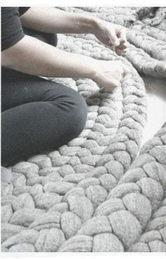 GIANT KNIT RUGS - Dana Barnes Studio