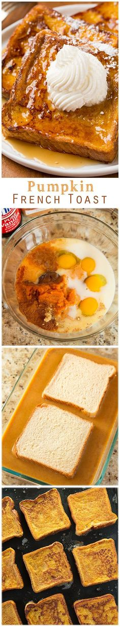 Pumpkin French Toast - this is the perfect Fall breakfast!