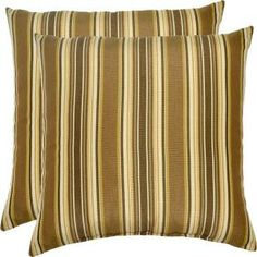 Plantation Patterns 16 In. Chili Stripe Patio Throw Pillow  (2 Pack) 7050 02298000 At The Home Depot | Outdoor Pillows | Pinterest | Throw  Pillows And Patios