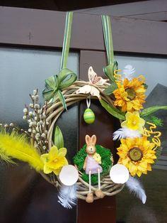 Velikonoční dekorace na dveře moje práce