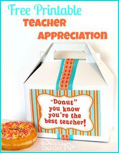 Such a cute idea for Teacher Appreciation #freeprintable