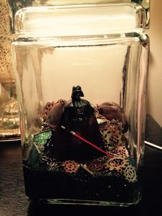 Darth Vader Terrarium! #starwars #crafty Star Wars terrarium