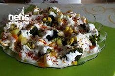 Ravioli Taste Broccoli Salad (Skillet) How to make a recipe? Easy Salad Recipes, Easy Salads, Cottage Cheese Salad, Coleslaw Salad, Ravioli Recipe, Salad Dishes, Seafood Salad, Broccoli Salad, Dinner Salads
