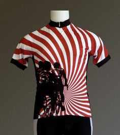 fun vortex bicycling jersey. Bicycle Jerseys, Cycling Art, Bike Art, Bicycle Accessories, Bicycling, Polo Shirt, T Shirt, Polo Ralph Lauren, Mens Tops