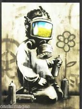 Banksy CHILD IN A GAS MASK choose either a print, t shirt transfer or sticker