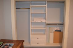 Our Floating Maderno Series closet organizers ...gives you the feeling of style and comfort