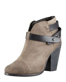 Harrow Waxed Suede Ankle Boot, Clay